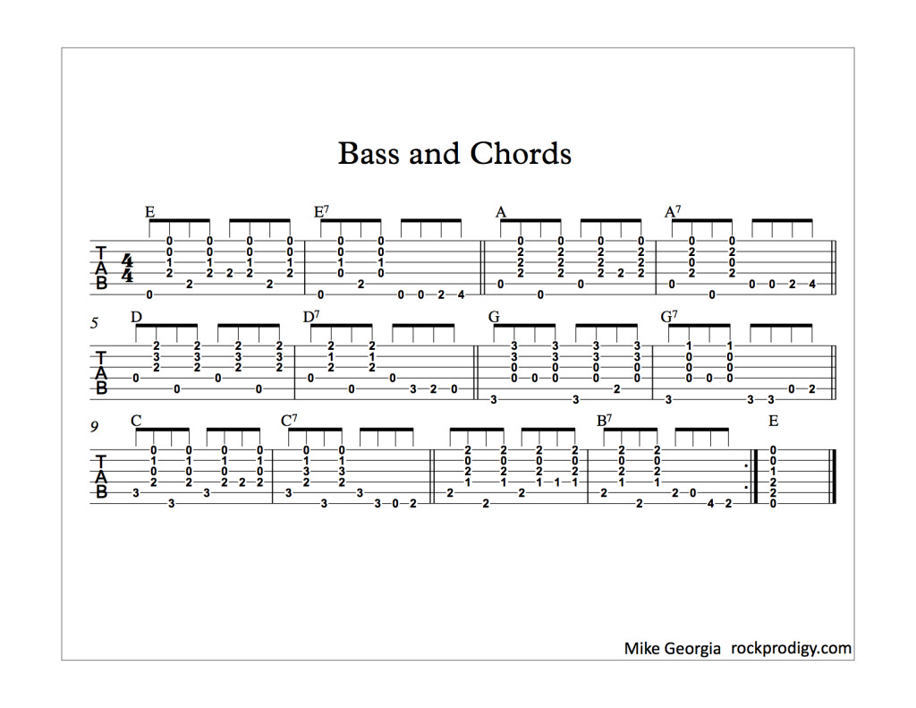 Bass and Chords