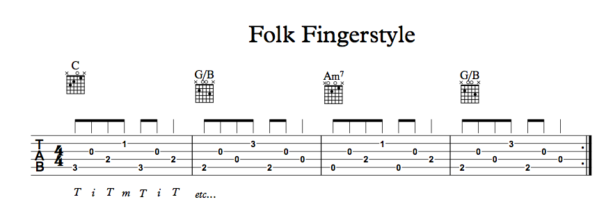 One finger chords